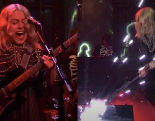 see-phoebe-bridgers-smash-her-guitar-on-snl-video