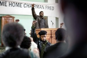 JUDAS AND THE BLACK MESSIAH, from top: Daniel Kaluuya as Fred Hampton, LaKeith Stanfield as William O'Neal, 2021. Phone: Glen Wilson / Warner Bros. / courtesy Everett Collection
